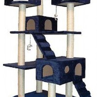 Amazon.com: Go Pet Club Cat Tree, 50W x 26L x 72H, Blue: Pet Supplies