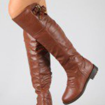Pack-20 Buckle Riding Knee High Boot