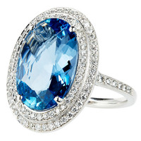 1STDIBS.COM Jewelry & Watches - Aquamarine and Diamond Ring - Nigel Milne