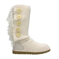 UGG Fringe Cardy 1878 Cream Outlet UK