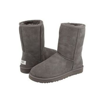 Grey Ugg Classic Men's Short Boots Outlet UK