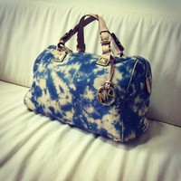 MICHAEL KORS Tie Dye Grayson Leather Bag