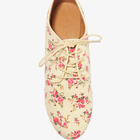 Floral Canvas Oxfords