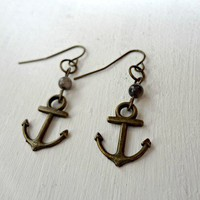 Anchor Earrings from Fourth Tower Jewelry