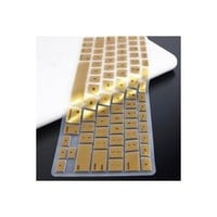 "TopCase METALLIC GOLD Keyboard Silicone Cover Skin for Macbook 13"" Unibody (A1342/WHITE) with TOPCASE? Mouse Pad"