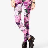 Rose Print Leggings | FOREVER 21 - 2040494863
