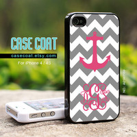 Monogram iPhone 4 Case iPhone 4s Case  Custom Monogram by CaseCoat