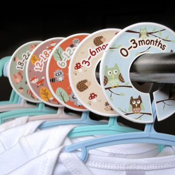 The Original Baby Closet Dividers - Woodland Forest Friends
