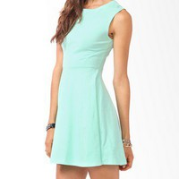 Curve Stitched Skater Dress | FOREVER 21 - 2000049959