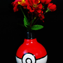 Pokeball Light Bulb Photo Holder/Flower Vase