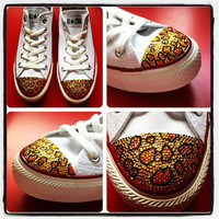 Womens Converse All Star Low - Leopard Print - White, Black, Navy or Red