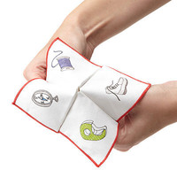 FORTUNE TELLER NAPKINS - SET OF 2 | This set of two fortune teller handkerchiefs comes with instructions for folding and fortunes to play around with! | UncommonGoods