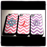 Monogrammed Chevron Design IPhone 4 &amp; 5 Cases by AWomansWishList