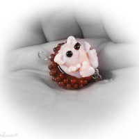 Lampwork Designerbead Hedgehog/ Sterlingsilver by Cutebeads