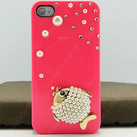 iphone 4 case fish   pearls iphone case iPhone cover  iphone 5 case iphone 3 case 14 color choices