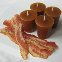 BACON CANDLES (set of 4 votives or 4-oz jar candle)