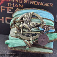 The Hunger Games Wrap Bracelet-Freedom-Free Shipping