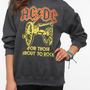 Urban Outfitters - Junk Food ACDC Rock Band Sweatshirt