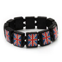 My Associates Store - UK British Flag Union Jack Stretch Wooden Bracelet - up to 20cm length