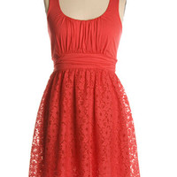It's Swell Dress in Red Coral - $47.95 : Indie, Retro, Party, Vintage, Plus Size, Convertible, Cocktail Dresses in Canada