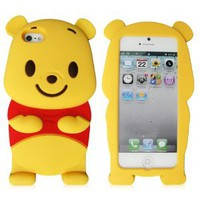 Amazon.com: New 3D Cute Disney Winnie The Pooh Bear soft silicone case cover For iphone 5 5G: Cell Phones & Accessories