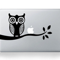 Owl Macbook decals Mac decal Macbook pro decal Macbook air decal Mac stickers Apple decal ipad decal iphone decal