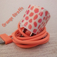 ORANGE GIRAFFE iPhone Wall Adapter for  3g 3gs 4 by PersonalPower