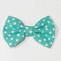 Mint Polka Dots