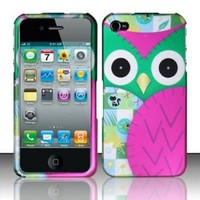 Apple iPhone 4 and 4S Protector Case Rubberized Design Cover Owl