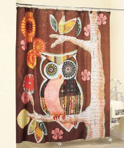 Owl Friend Shower Curtain