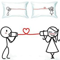 "Amazon.com: BoldLoft ""Say I Love You"" Couple Pillowcases-romantic Valentines Gifts for Couples, Cute Valentines Day Gift Ideas, Good Couple Gifts for Valentines, Romantic Anniversary Gifts: Home & Kitchen"