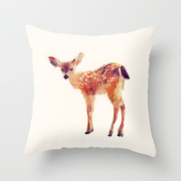 Fawn Throw Pillow by Amy Hamilton | Society6