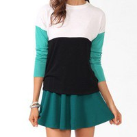 Tri-Tone Dropped Shoulder Sweater | FOREVER 21 - 2000049861