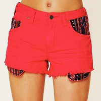 Free People Rugged Ripped Baja Denim Shorts