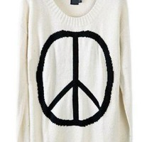 Vintage Round Neck Long Sleeve Sweater  S008743