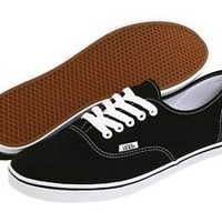 NEW WOMEN VANS AUTHENTIC LO PRO BLACK/ TRUE WHITE ORG