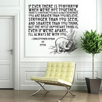 Vinyl Wall Decal Sticker Art - I&#x27;ll Always Be With You - Winne the Pooh quote -  Large