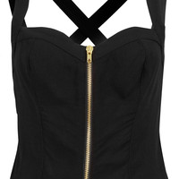Zip Front Sun Top - Tops - Clothing - Topshop USA