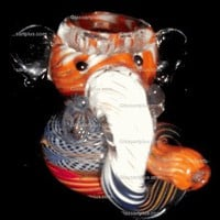 Elephant Twisted Trunk Bubbler Pipe