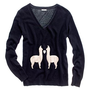 Women's THE GIVE WELL GUIDE - modern tomboy - Llama Love Sweater - Madewell
