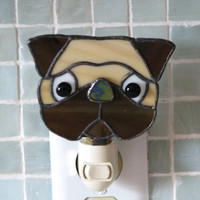 Pug Night Light by glasssmarts on Etsy