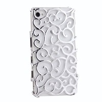 Electroplating Hollow Pattern PC Case Hard Back Cover for iPhone 4S/4, Silver