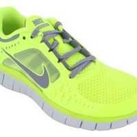 Nike Women's NIKE FREE RUN+ 3 WMNS RUNNING SHOES 7.5 (VOLT/STEALTH/PR PLATINUM/STLTH )