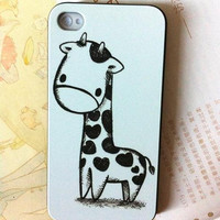 cute giraffe iphone 4 case iphone 4s case iphone covers by birtyk