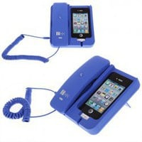 KK-02 Handset Dock Stand with Hands Free for iPhone 4,4S,3G/3GS,iPhone 5 (Blue) China Wholesale - Everbuying.com