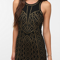 Urban Outfitters - Sparkle & Fade Ponte Knit Studded Bodycon Dress