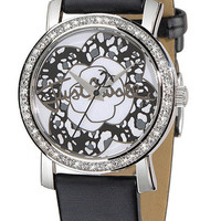 Just Cavalli Moon ladies watch in black leather | EVOSY | The Premier Destination for Watches and Accessories
