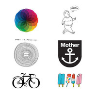 Tattly? Designy Temporary Tattoos ? Gift Box: Team Tattly Picks