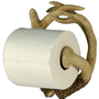 River's Edge Unique Poly Resin Design Deer Antler Toilet Paper Holder