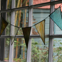 Reclaimed Glass Bunting by TaDahpdx